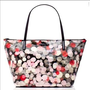 Kate spade cherry terrace large tote bag patent